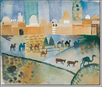 Impressão artística Kairouan I, 1914