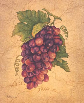 Impressão artística L'uva Rossa