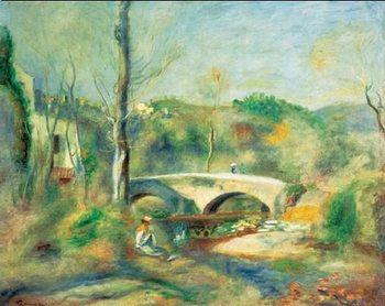 Impressão artística Landscape with Bridge, 1900