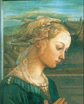 Impressão artística Madonna with Child and two Angels (part)