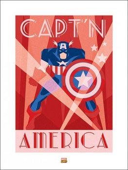 Impressão artística Marvel Deco - Captain America