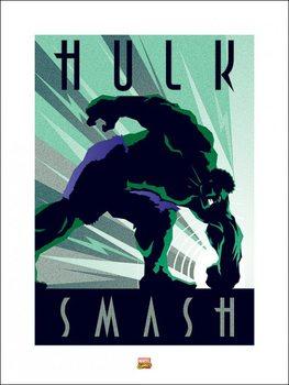 Impressão artística Marvel Deco - Hulk