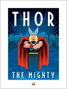Impressão artística Marvel Deco - Thor