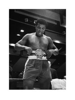 Impressão artística Muhammad Ali vs Belt