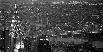 Impressão artística New York - The Chrysler Building and Queensboro bridge