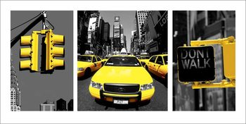 Impressão artística New York - Yellow