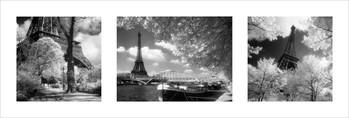 Impressão artística Paris - Triptych