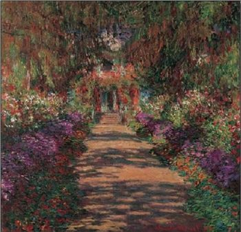 Impressão artística Pathway in Monet's Garden at Giverny, 1902