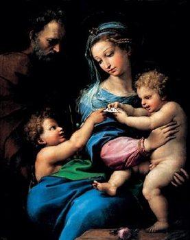 Impressão artística Raphael Sanzio - Madonna of the Rose - Madonna della rosa, 1520