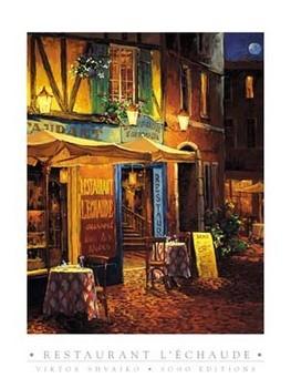 Impressão artística Restaurant L\\\\\\\'Echaude