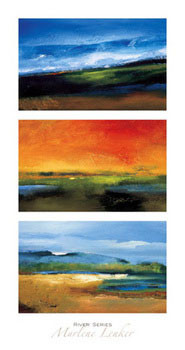 Impressão artística River Series