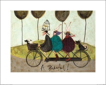 Impressão artística Sam Toft - A Bikeful!