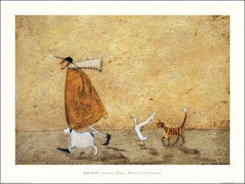Impressão artística Sam Toft - Ernest, Doris, Horace And Stripes