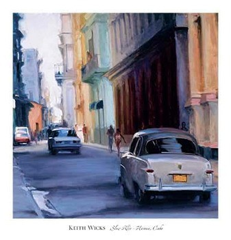 Impressão artística Slow Ride - Havana, Cuba