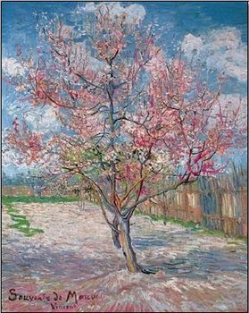 Impressão artística  Souvenir de Mauve - Pink Peach Tree in Blossom, 1888