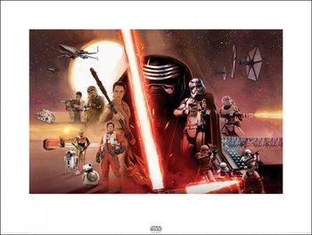 Impressão artística Star Wars Episode VII: The Force Awakens - Galaxy