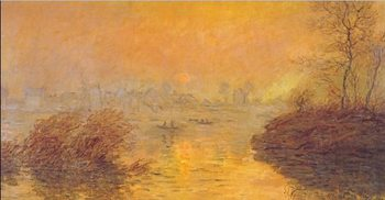 Impressão artística Sunset on the Seine at Lavacourt (part)