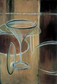 Impressão artística Sweet Martini