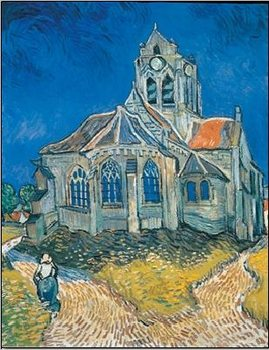 Impressão artística The Church at Auvers, 1890
