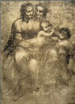 Arte The Virgin and Child with St Anne and St John the Baptist - Burlington House Cartoon
