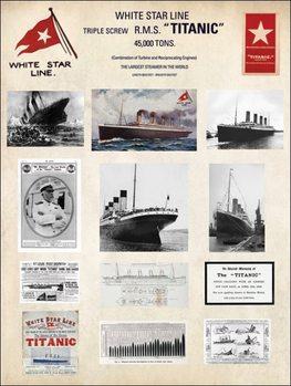 Impressão artística Titanic - Collage