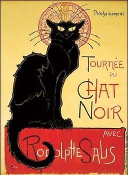 Impressão artística Tournée de Chat Noir - Black Cat