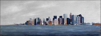 Impressão artística View from boat to Manhattan