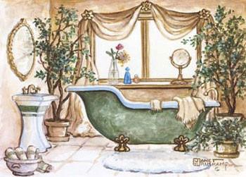 Impressão artística Vintage Bathtub lll