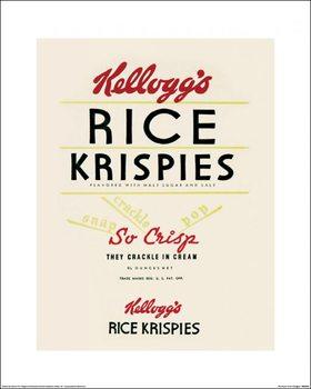 Impressão artística Vintage Kelloggs - Rice Krispies