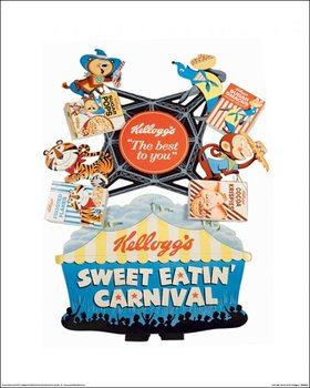 Impressão artística Vintage Kelloggs - Sweet Eatin' Carnival