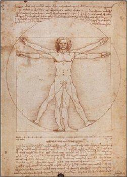 Impressão artística Vitruvian Man