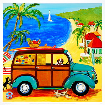 Impressão artística Woody at the Beach