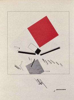 Reprodução do quadro `Of Two Squares`, frontispiece design, 1920, pub. in Berlin, 1922