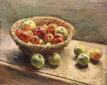Reprodução do quadro A Bowl of Apples; Le Panier de Pommes, 1880