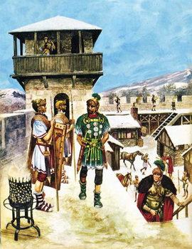 Reprodução do quadro A Roman army fort in Britain