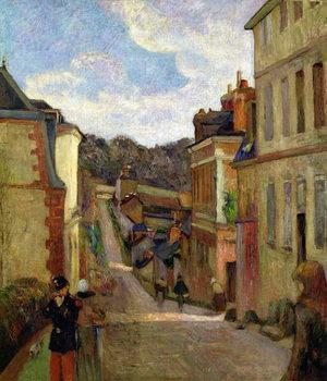Reprodução do quadro A Suburban Street, 1884