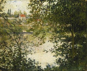 Reprodução do quadro A View Through the Trees of La Grande Jatte Island; A Travers les Arbres, Ile de la Grande Jatte, 1878