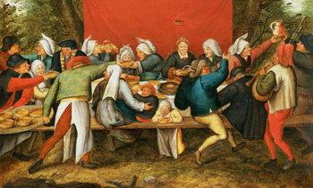 Reprodução do quadro A Wedding Feast