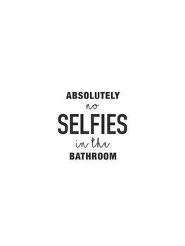 Ilustração Absolutely no selfies