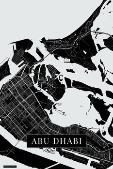 Mapa de Abu Dhabi black