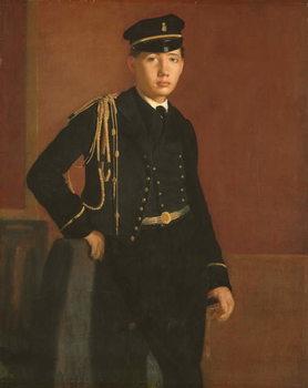 Reprodução do quadro Achille De Gas in the Uniform of a Cadet, 1856-7