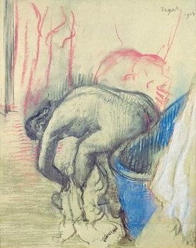 Reprodução do quadro After the Bath, 1903