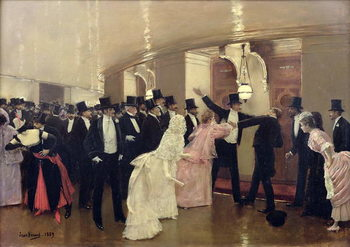 Reprodução do quadro An Argument in the Corridors of the Opera, 1889