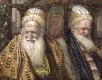 Reprodução do quadro Annas and Caiaphas, illustration for 'The Life of Christ', c.1886-94