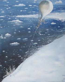 Reprodução do quadro Antarctica's first Aeronaut Captain Scott 4th February 1902, 2005