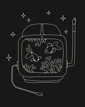 Reprodução do quadro Astronaut Helmet in Water
