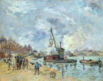 Reprodução do quadro At the Quay de Bercy in Paris, 1874