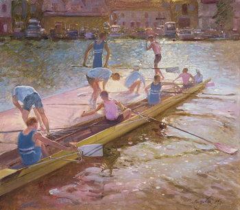 Reprodução do quadro At the Raft, Henley, 1993