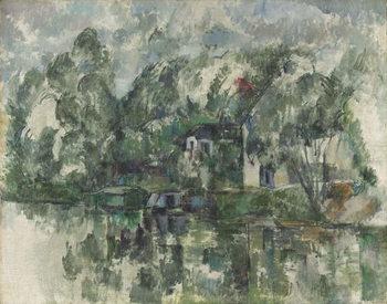 Reprodução do quadro At the Water's Edge, c. 1890