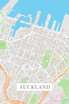 Mapa de Auckland color